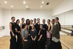 Alumnas con Monica Iglesias